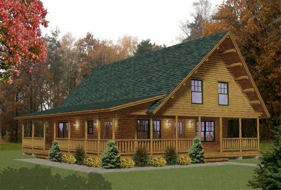 Hamilton katahdin cedar log homes floor plans for Log cabin kits 2000 sq ft