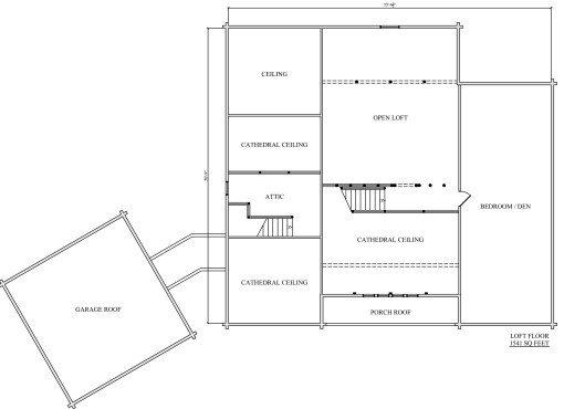 Log Home Plan #02981