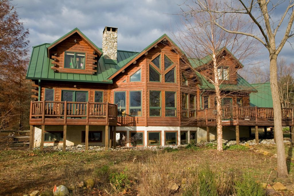Lakeview Cedar Log Home Floor Plan Katahdin House Plans