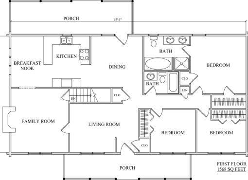 Log Home Plan #01875