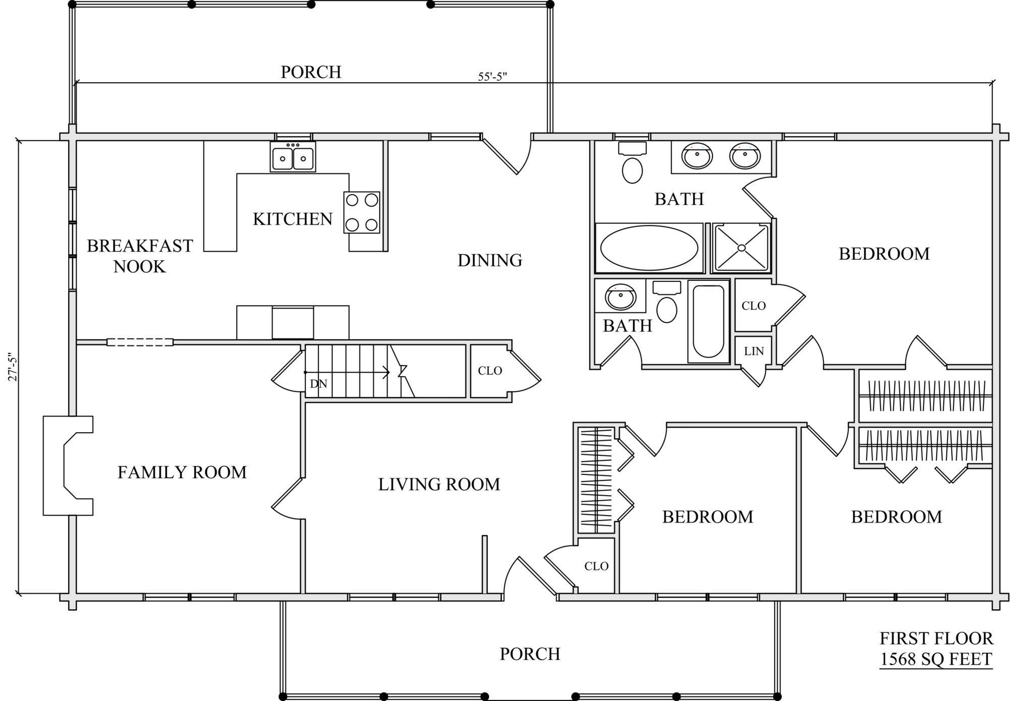 Log Home Plan 01875 Katahdin Cedar Log Homes Floor Plans