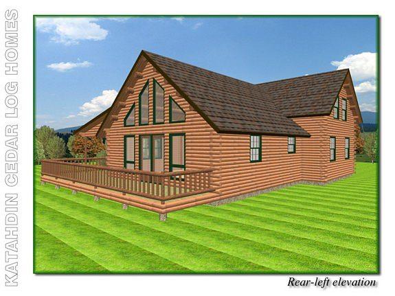 Houston katahdin cedar log homes floor plans for Houston house elevation