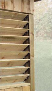 Sunblinds can provide shade with natural cedar on your Katahdin Cedar Log Home deck