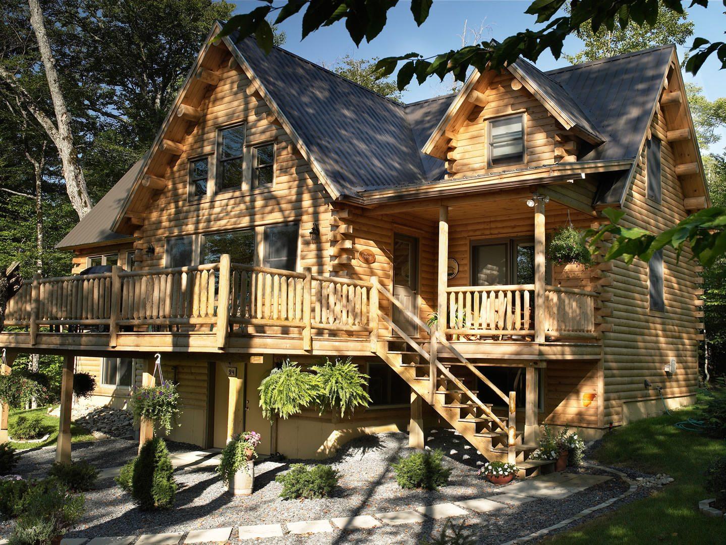 Sebec katahdin cedar log homes floor plans