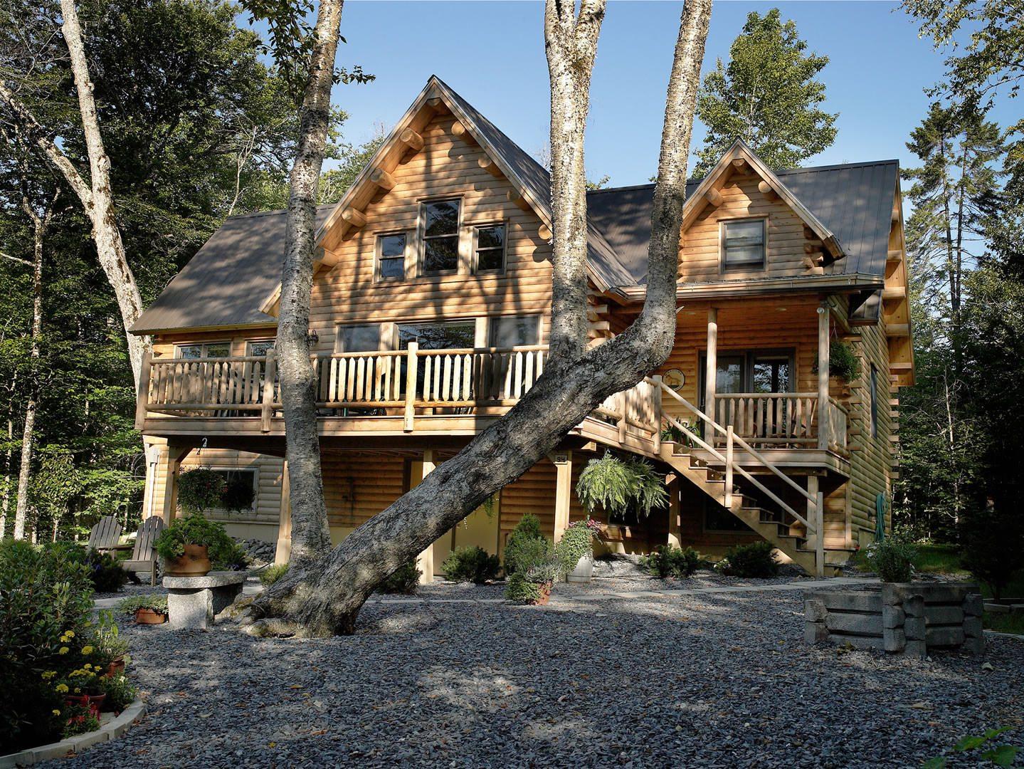 Cedar Log Homes ~ Sebec  katahdin cedar log homes
