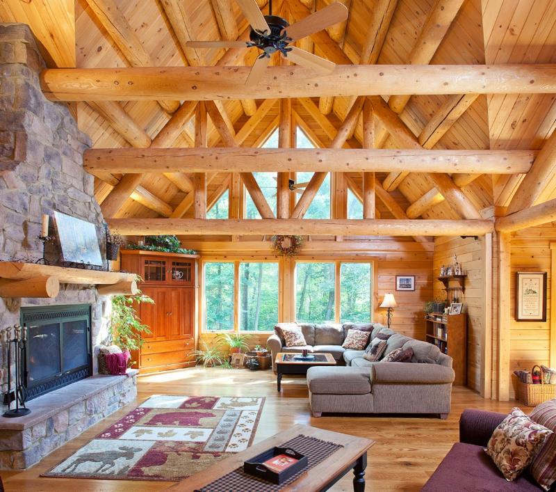 Cathedral Ceilings Heating Cooling Efficiently Katahdin Cedar Log Homes