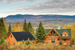 Katahdin Solar Ready Log Home Energy Efficiency