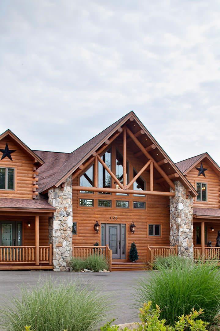 Lakeview cedar log home floor plan katahdin house plans for Cedar house plans
