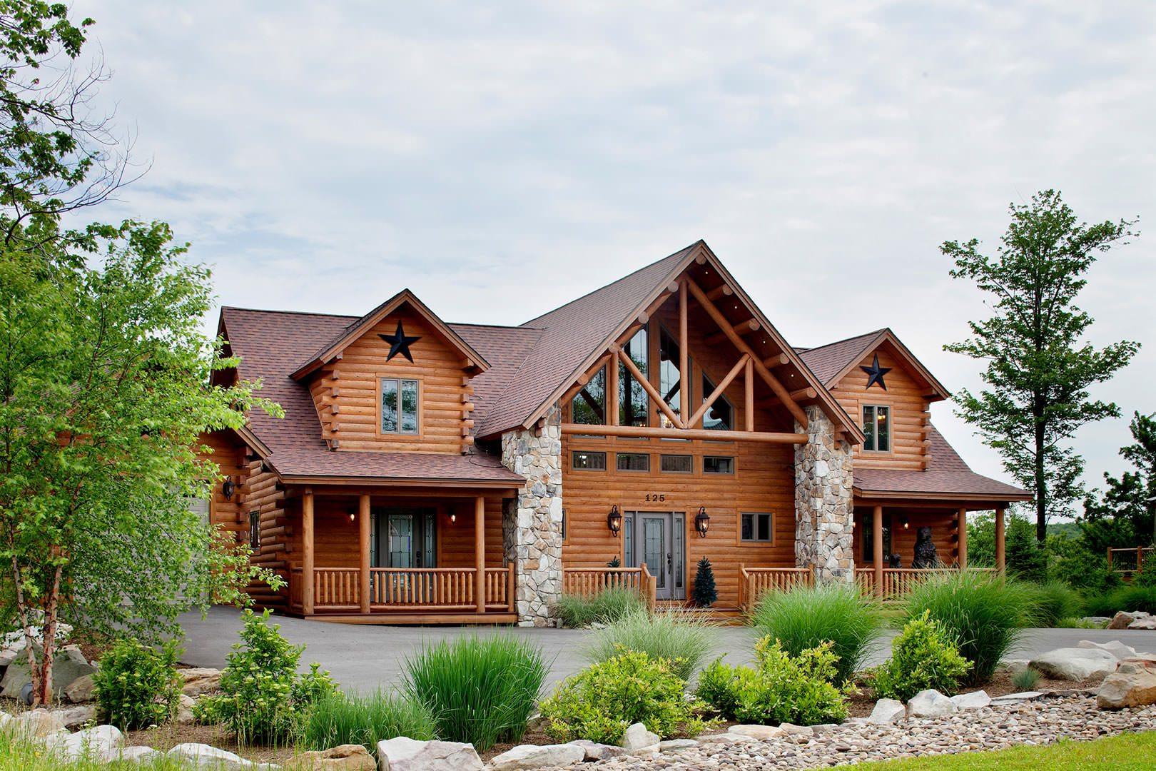 Lakeview  katahdin cedar log homes