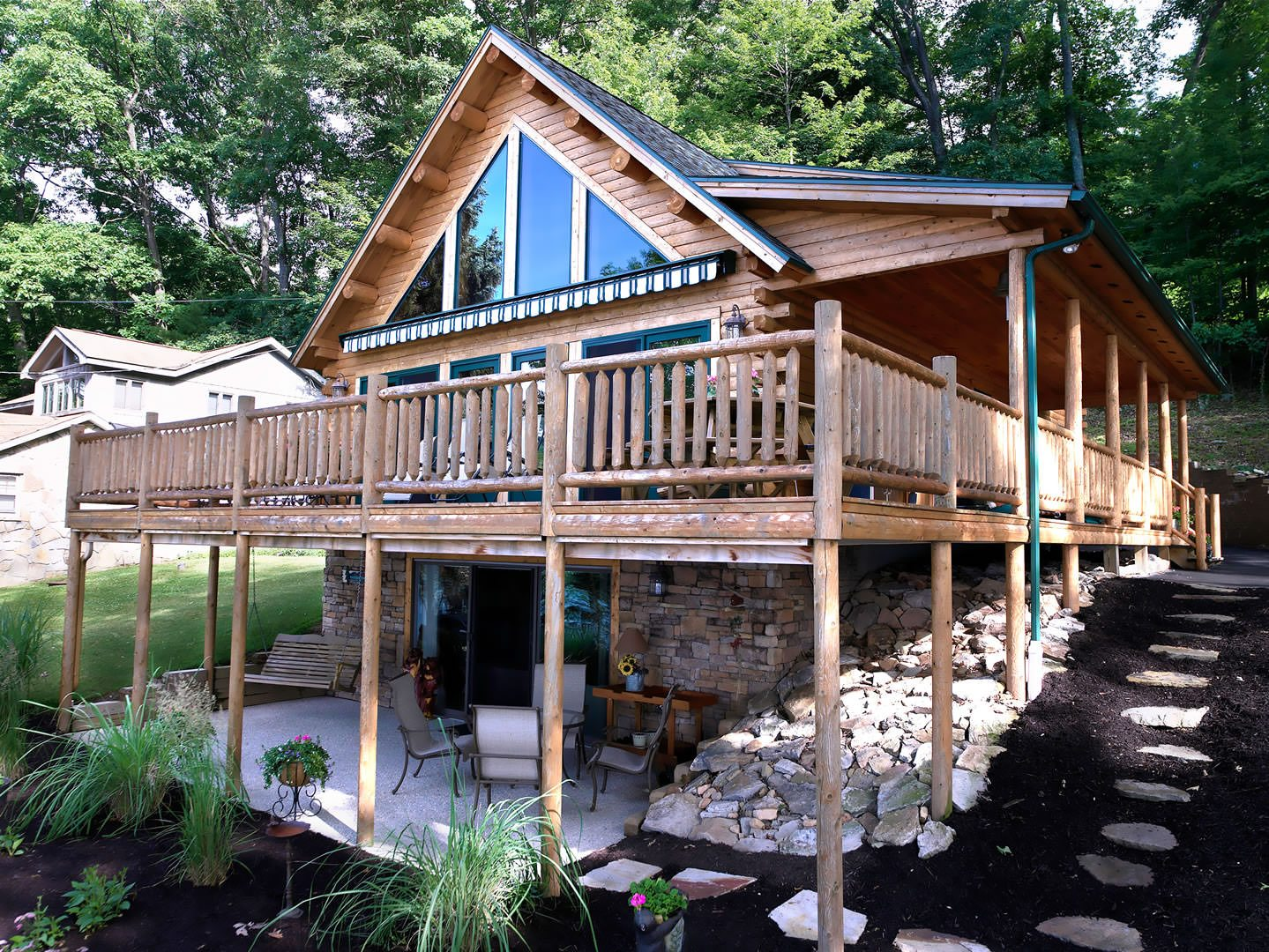 cabin carson elevation cabins front log information homes plans home southland builders