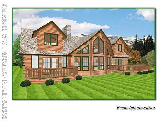 Lakeview Cedar Log Home Floor Plan Katahdin House Plans – Cedar Log Home Floor Plans