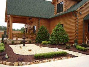 log home landscaping