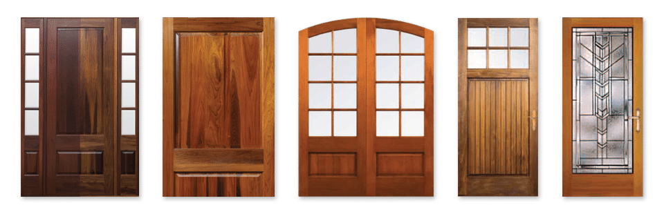 The doors are available in sizes up to four feet wide and eight feet tall. Custom designs including curved rails panels and/or glass are available. & Green Tip: Torrefied Wood Doors - Katahdin Cedar Log Homes