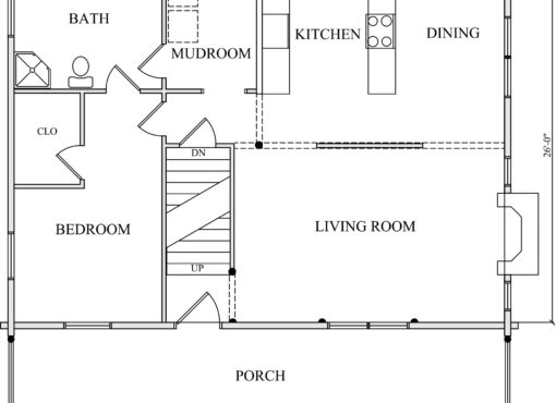 Log Home Plan #01814