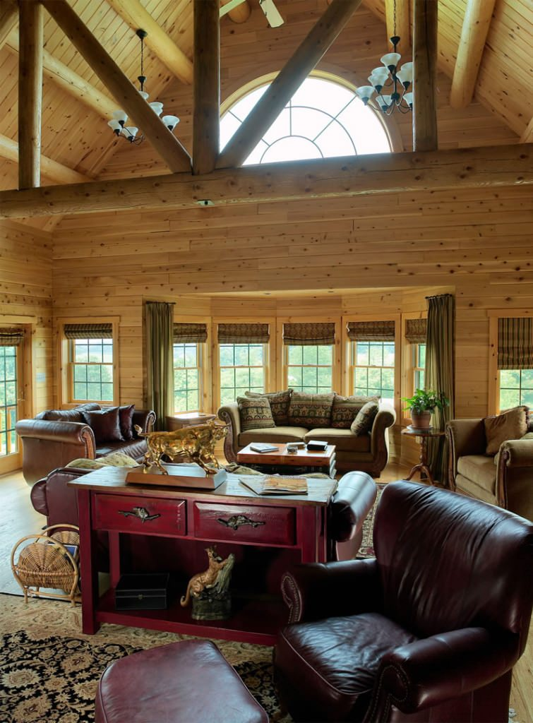 Living Room Home Decor Pinterest: Katahdin Cedar Log Homes