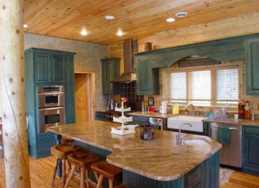 log home kitchen color ideas
