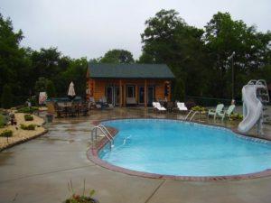 log home pool option