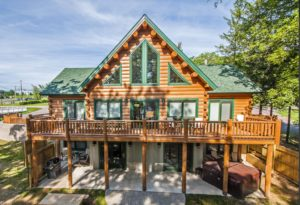 Deep Creek MD's Man Haus is a great way to enjoy a Katahdin Cedar Log Home rental.
