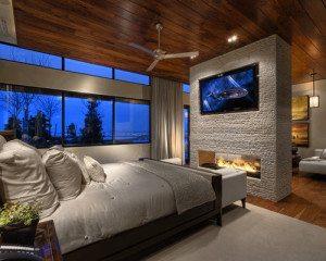 master retreat fireplace