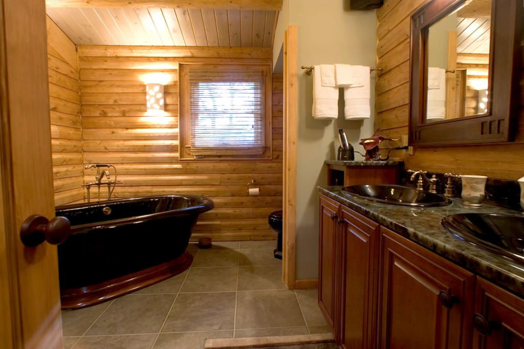 Bathroom Extreme Makeover extreme makeover - katahdin cedar log homes