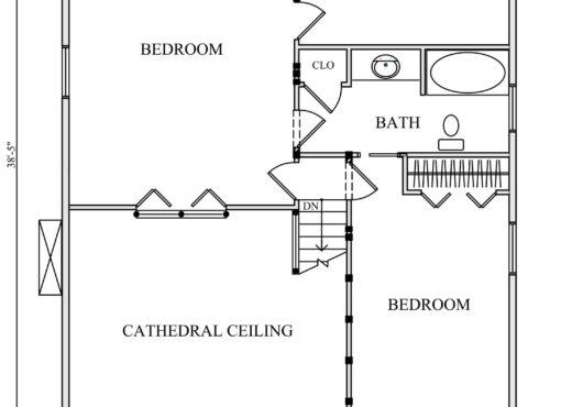 Log Home Plan #01883