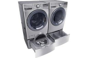 LG Twin Wash with Sidekick pedestal