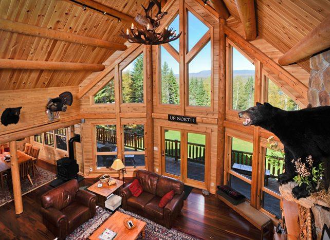 Custom Log Home Owned By Tom Carpenter At 62 Mooseridge