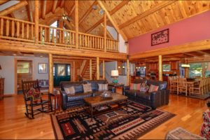 Mountain View Lodge is a Perfect gettaway Katahdin Cedar Log Home rental in Deep Creek MD