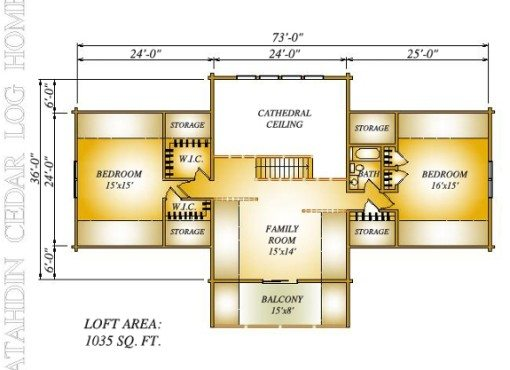 Log Home Plan #06687