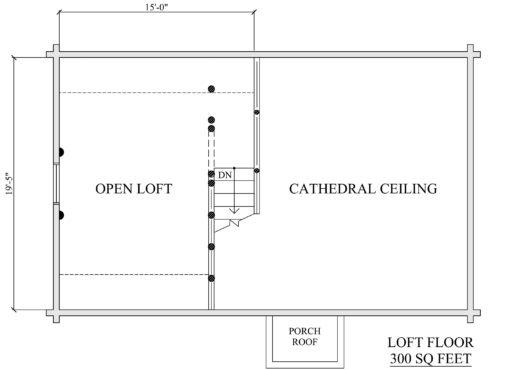 Log Home Plan #01857