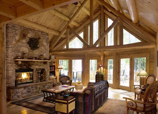 Log Home Plan #02020