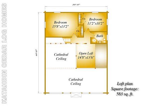 Outpost Katahdin Cedar Log Homes Floor Plans – Cedar Log Home Floor Plans