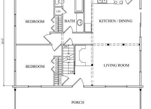 Log Home Plan #01815