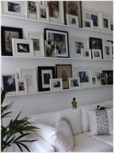picture rail shelf