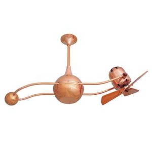 Whimsical Gemina Ceiling fan adds interest in your Katahdin Cedar Log Home