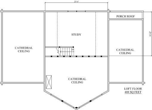 Log Home Plan #01845
