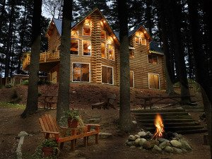 log home Outdoor lighting