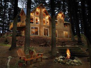 log home Outdoor lighting