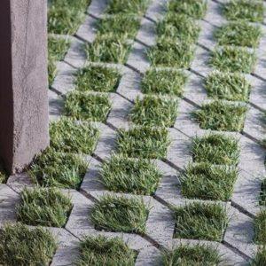 Sierra Fontana pavers are permeable and distinct options for Kathadin Cedar Log Home outdoor areas.