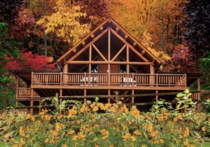 Summit Lodge is a Katahdin Cedar Log Home rental in Hocking Hills OH area.