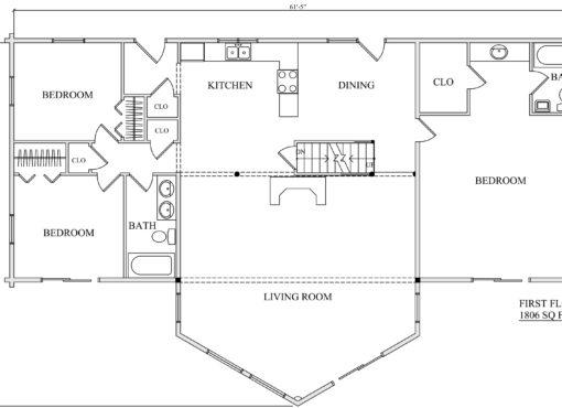 Log Home Plan #01867