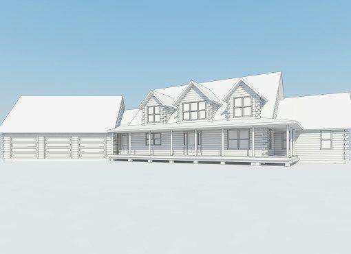 Log Home Plan #01803