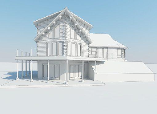 Log Home Plan #01850