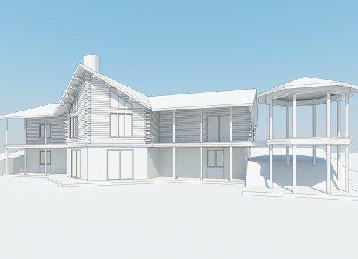 Log Home Plan #01860