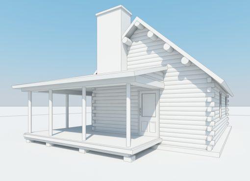 Log Home Plan #01861