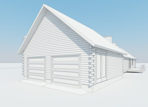 Log Home Plan #01805
