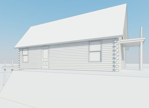 Log Home Plan #01900
