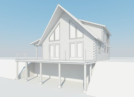 Log Home Plan #02954
