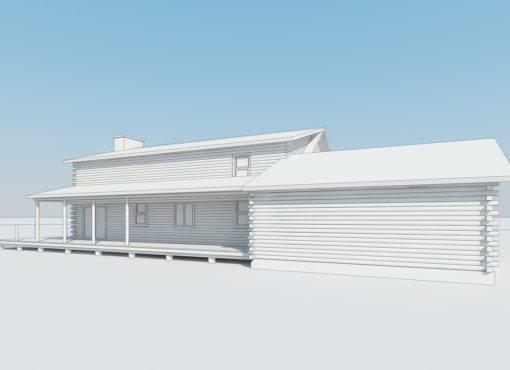 Log Home Plan #02988