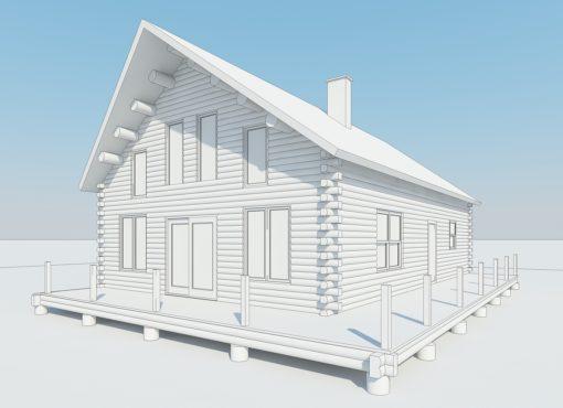 Log Home Plan #02976